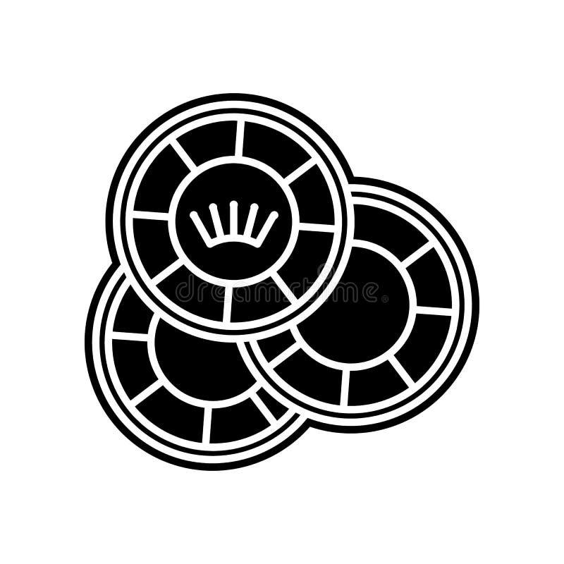 Spielen der Chipikone Element des Kasinos f?r bewegliches Konzept und Netz Appsikone Glyph, flache Ikone f?r Websiteentwurf und E vektor abbildung
