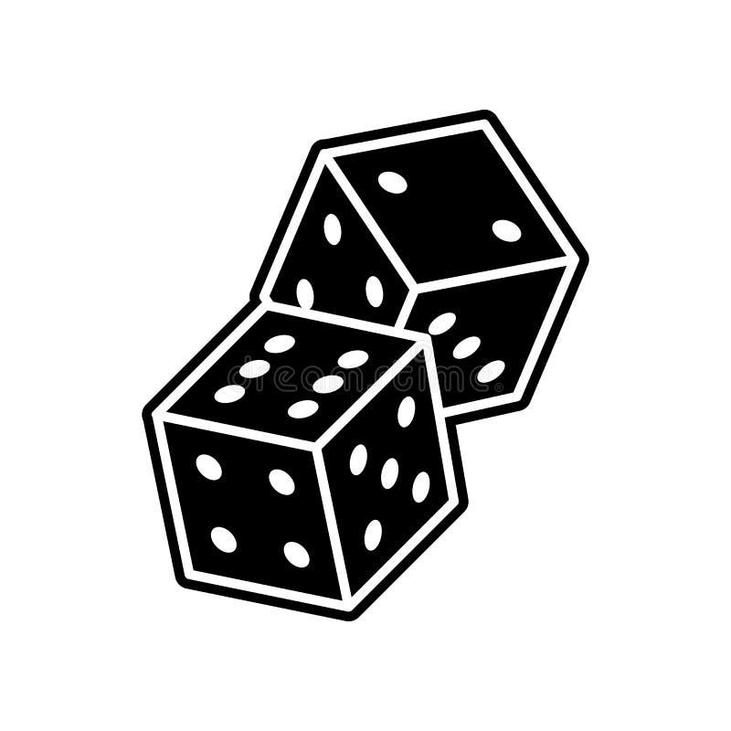 Spielen der Pfeilikone Element des Kasinos f?r bewegliches Konzept und Netz Appsikone Glyph, flache Ikone f?r Websiteentwurf und  stock abbildung