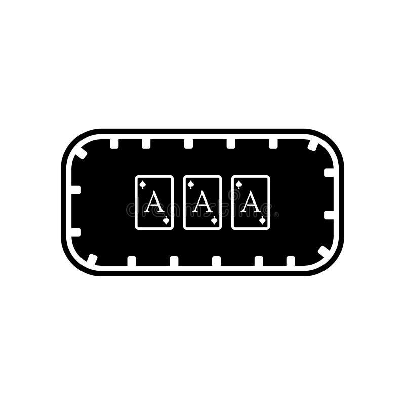 Spielen der Tabelle in der Kasinoikone Element des Kasinos f?r bewegliches Konzept und Netz Appsikone Glyph, flache Ikone f?r Web vektor abbildung