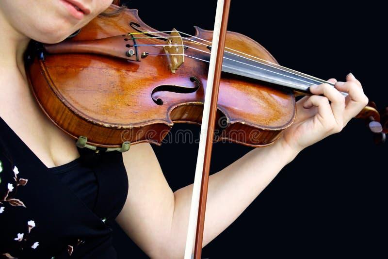 Spielen der Violine stockbilder