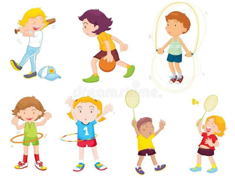 Spielen des Sports vektor abbildung