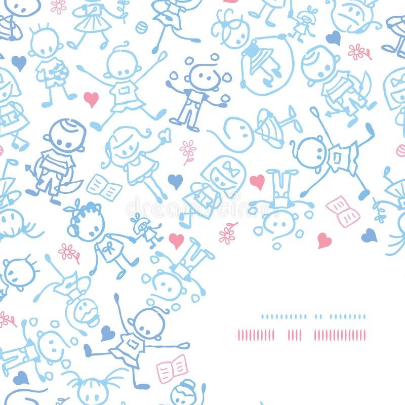 Spielen Kinderdes eckdekor-Musterhintergrundes lizenzfreie abbildung
