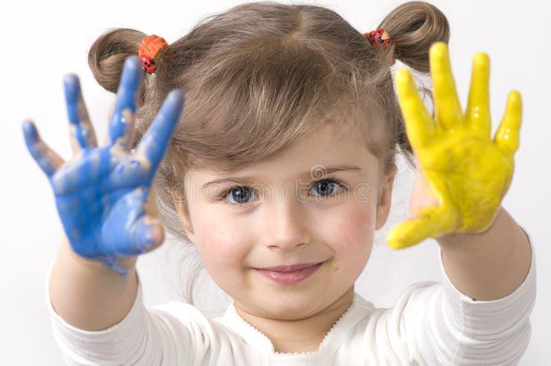 Spielen mit Farben lizenzfreies stockbild