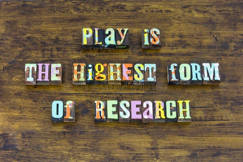 Spielen Sie Ausbildungsforschungsschule lernen Studienarbeit stark stockfotos
