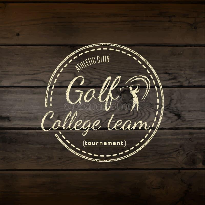Spielen Sie Ausweislogos und -aufkleber für irgendwelche Gebrauch Golf vektor abbildung