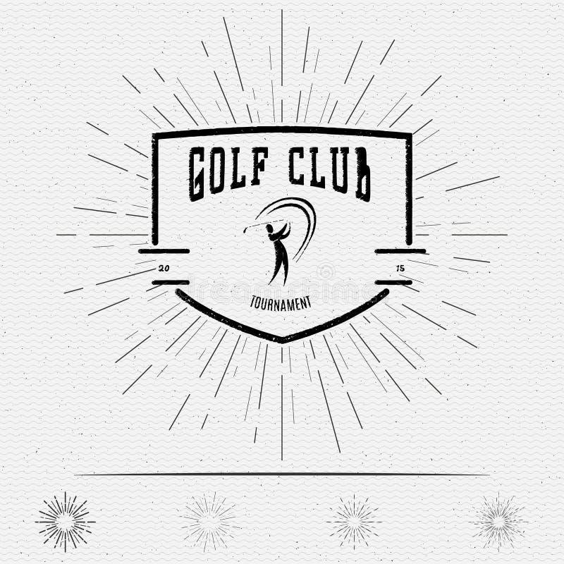 Spielen Sie Ausweislogos und -aufkleber für irgendwelche Gebrauch Golf stock abbildung