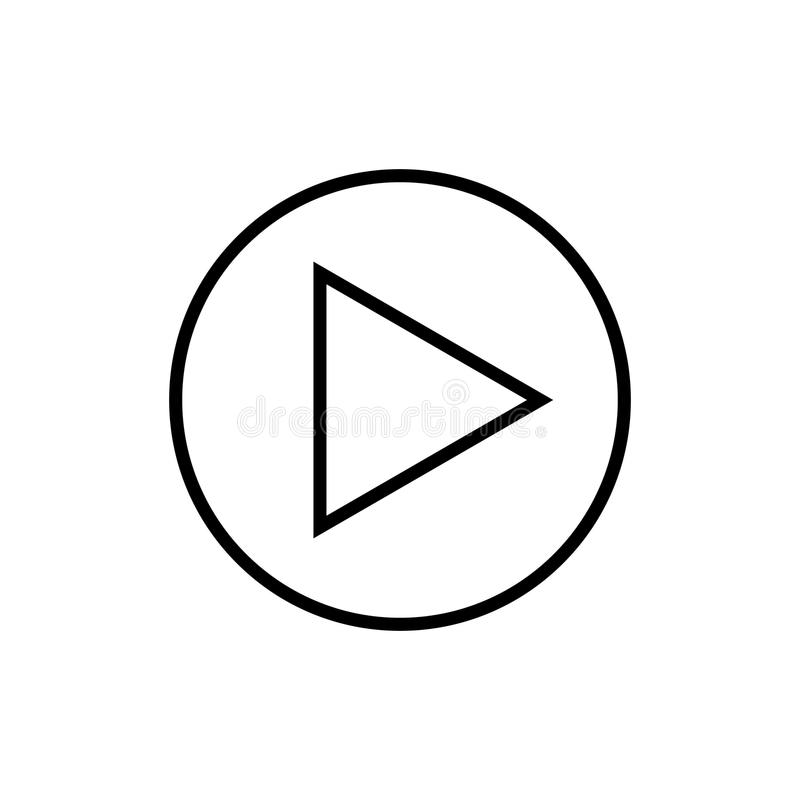 Spielen Sie Entwurfsikonenvektormultimediaknopfzeichenlogosymbol Social Media-Piktogrammillustration für Grafik und Webdesign vektor abbildung