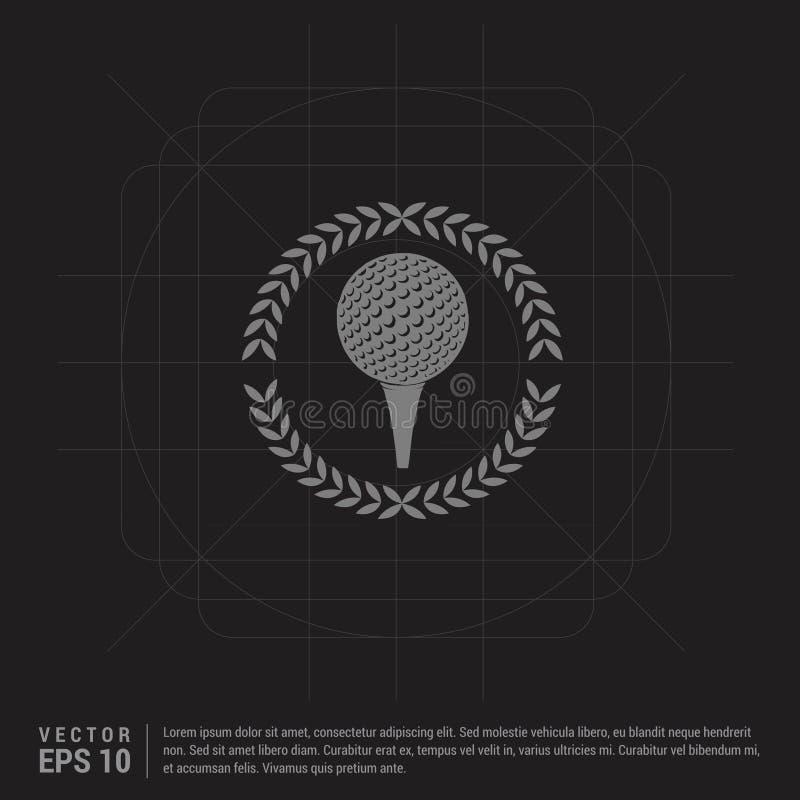 Spielen Sie gekreuzte T-Stücke Ikone - schwarzen kreativen Hintergrund Golf lizenzfreie abbildung
