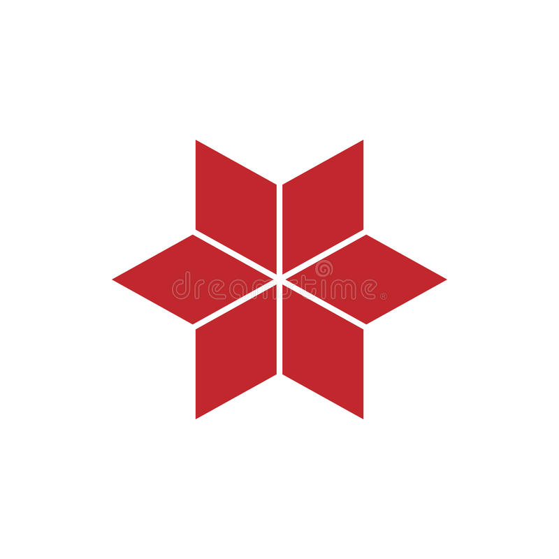 Spielen Sie isometrisches Logokonzept, Illustration des Vektors 3d die Hauptrolle Flache Designart Rautenbau Zeichenmuster Grafis vektor abbildung