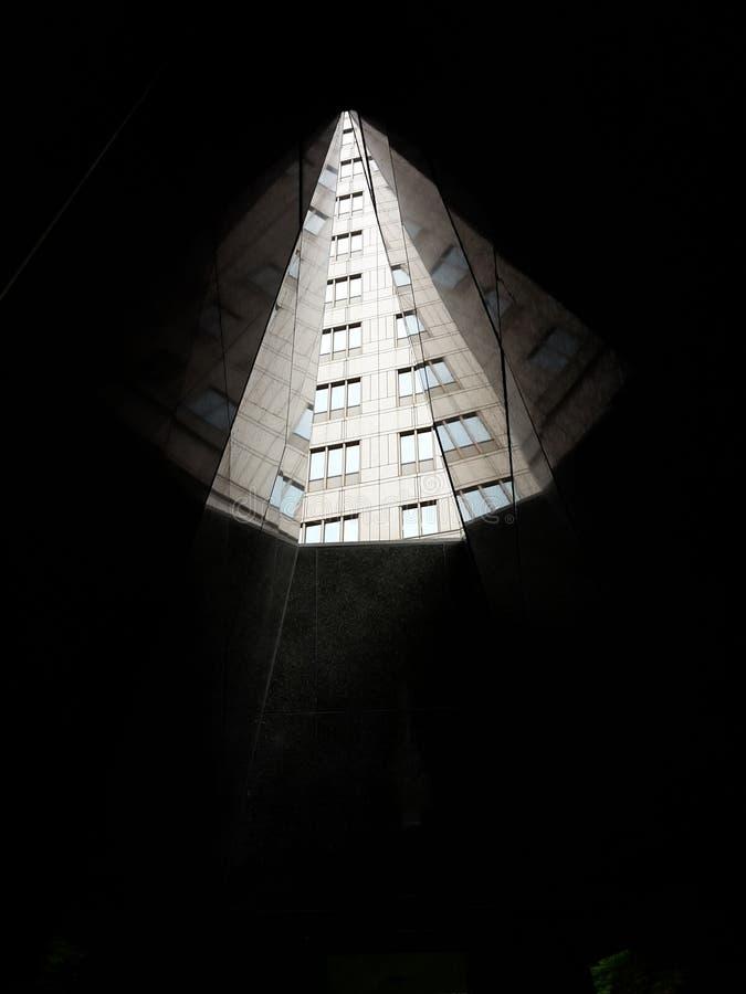 Spielen Sie mit den Lichtern und erhalten Sie einen Fractal stockbilder