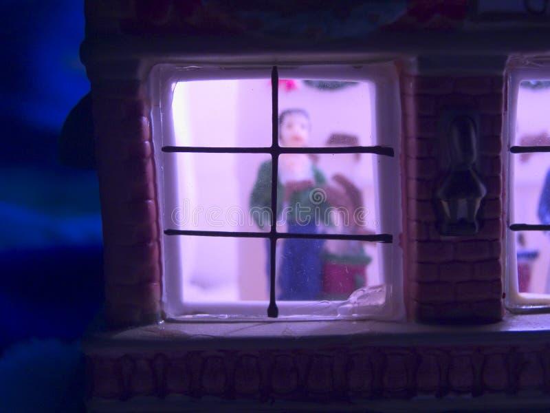 Download Spielen Sie Weihnachtshaus stockbild. Bild von bedtime, haus - 48275