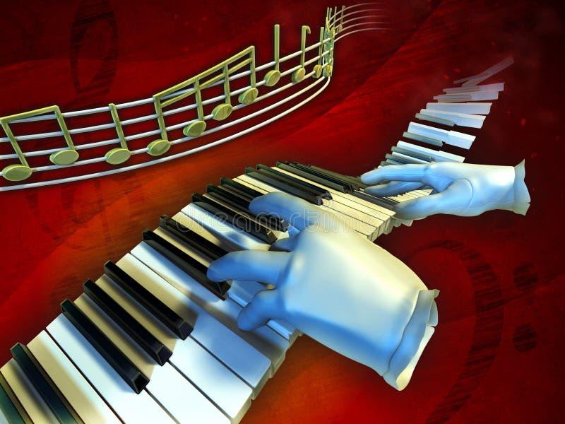 Spielen von Musik stock abbildung