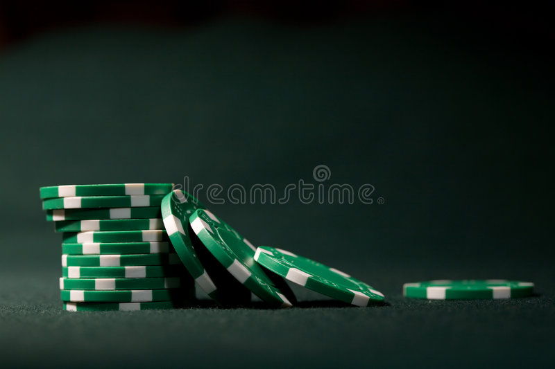 Spielende Chips stockfoto