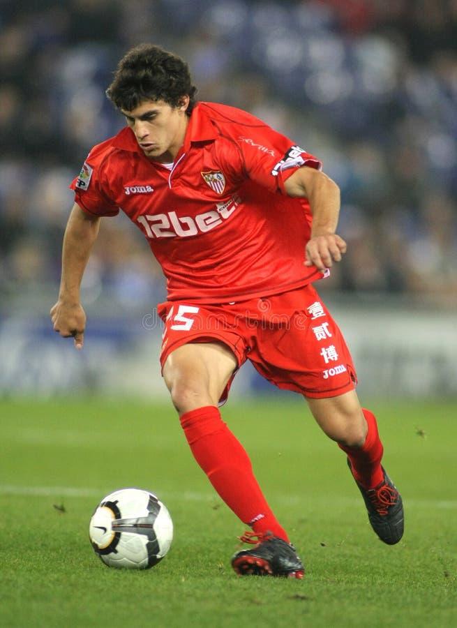 Spieler Diego-Perotti Sevilla FC lizenzfreie stockfotos