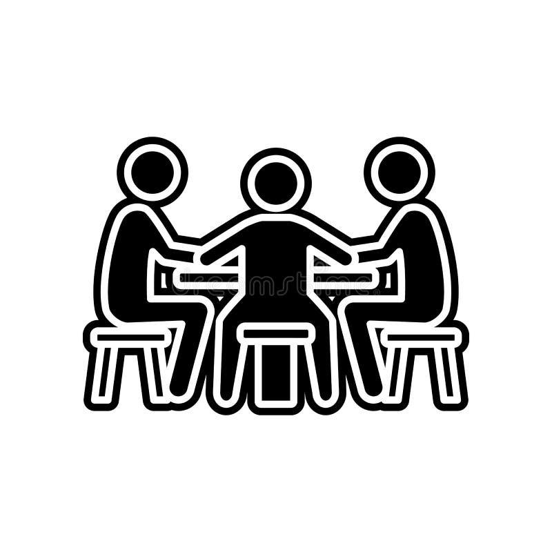 Spieler am Tisch in der Kasinoikone Element des Kasinos f?r bewegliches Konzept und Netz Appsikone Glyph, flache Ikone f?r Websit lizenzfreie abbildung