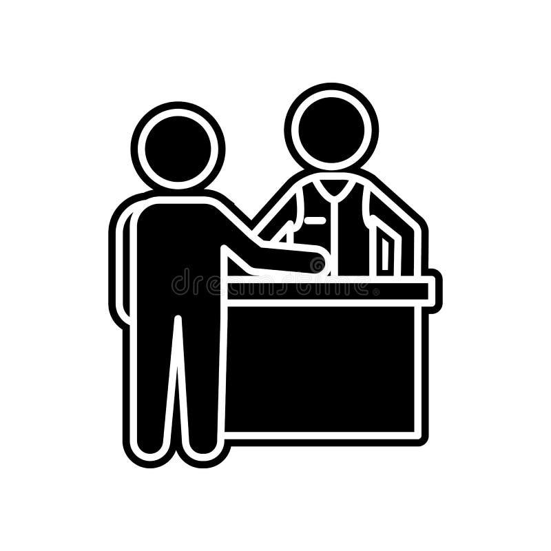 Spieler und Croupier an der Tabellenikone Element des Kasinos f?r bewegliches Konzept und Netz Appsikone Glyph, flache Ikone f?r  stock abbildung