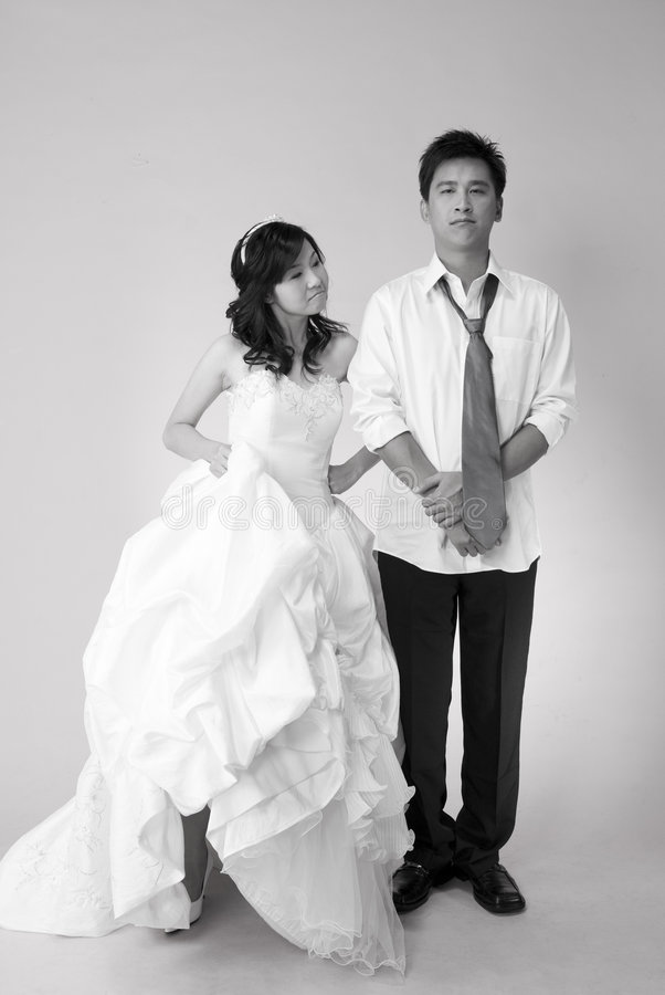 Spielerisch wed Paare 1 stockfoto