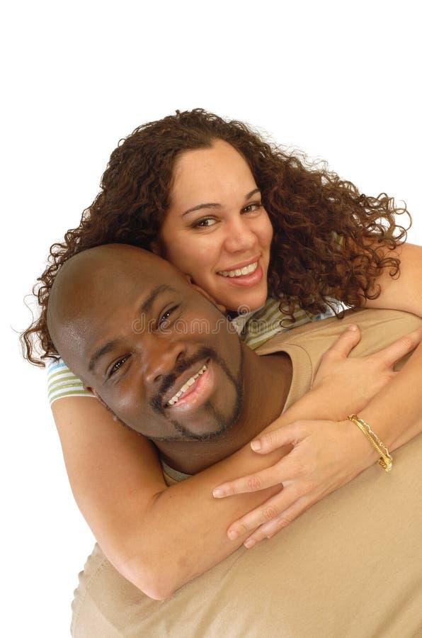 Spielerische junge Paare stockfotografie