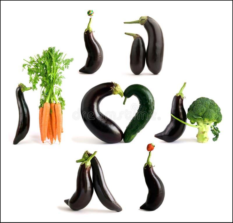 Spielerisches Gemüse lizenzfreie stockbilder