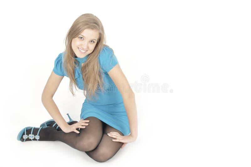Spielerisches hübsches Mädchen lizenzfreie stockfotografie