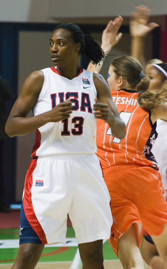 Spielerteam USA-Basketball Silvia Fowles lizenzfreies stockfoto