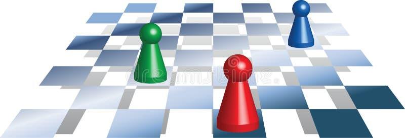 Spielfiguren_schach illustration libre de droits