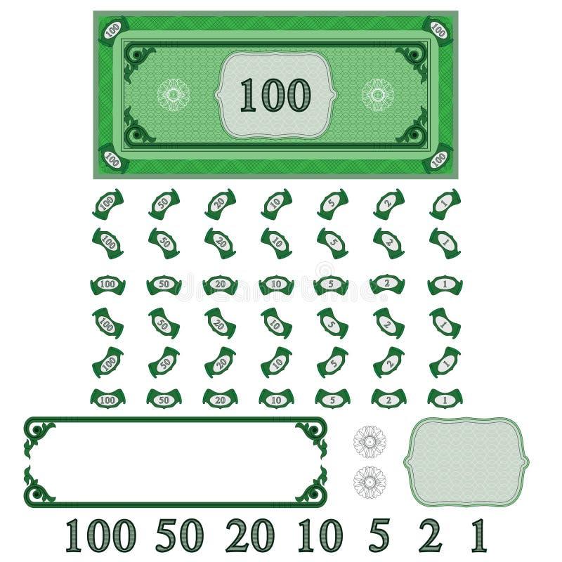 Spielgeld (verdienen Sie Ihr Geld einzustellen) stock abbildung