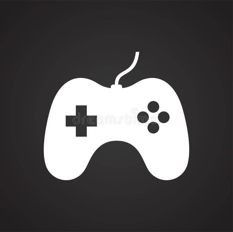 Spielikone auf Hintergrund f?r Grafik und Webdesign Einfaches Vektorzeichen Internet-Konzeptsymbol f?r Websiteknopf oder stock abbildung