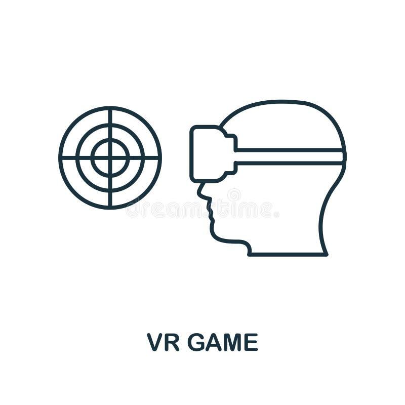 Spielikone der virtuellen Realität Einfarbiger Artentwurf von der Sichtgerätikonensammlung Ui Perfektes einfaches Piktogramm des  vektor abbildung