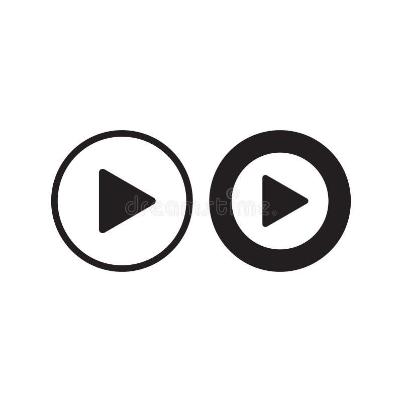 Spielikonenvektor Spielvideoillustration in der flachen Art stock abbildung