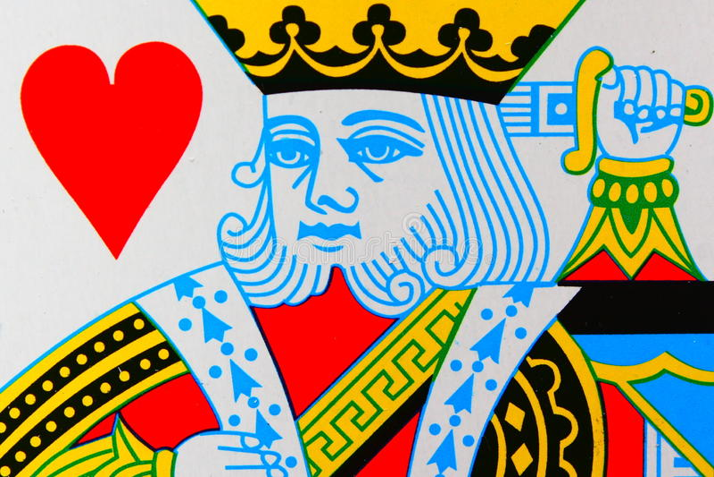 Spielkarte stockbild
