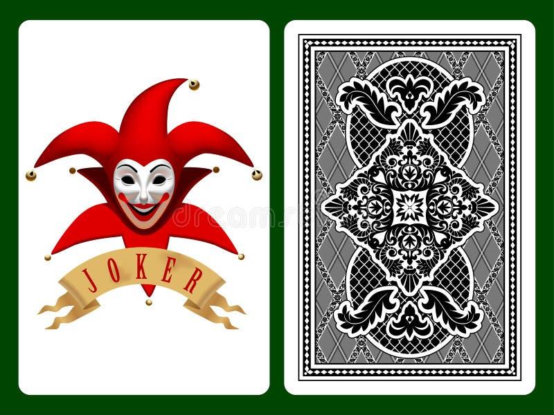 Spielkarte der roten Spassvogels vektor abbildung