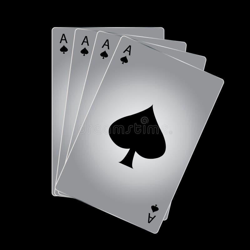 Spielkarte des Pikasses lizenzfreie abbildung
