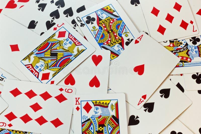 Spielkarte-Hintergrund lizenzfreie stockfotografie