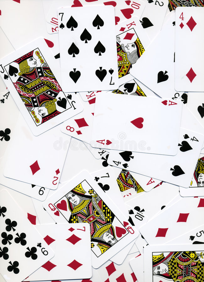 Spielkarte-Hintergrund-Auslegung stockbild