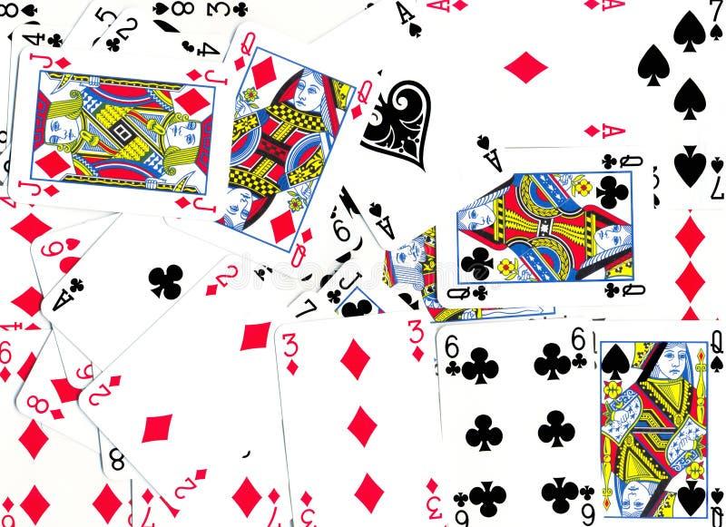 Spielkarte-Hintergrund-Auslegung lizenzfreies stockbild