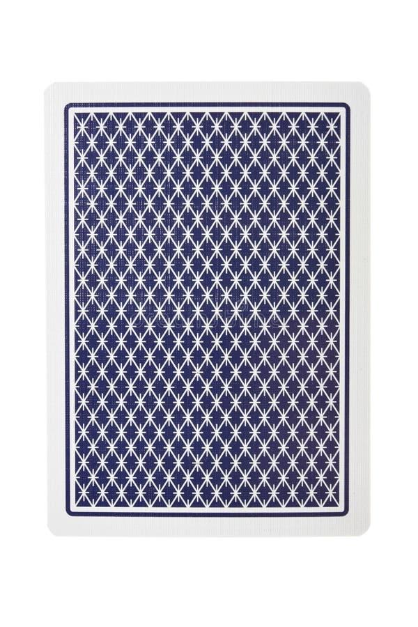 Spielkarte von der Rückseite lizenzfreie stockfotografie