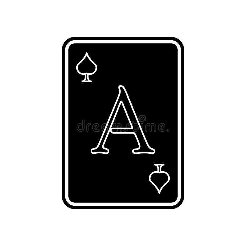 Spielkarteasikone Element des Kasinos f?r bewegliches Konzept und Netz Appsikone Glyph, flache Ikone f?r Websiteentwurf und Entwi vektor abbildung