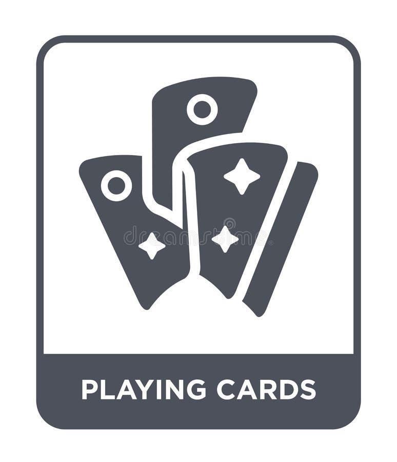 Spielkarteikone in der modischen Entwurfsart Spielkarteikone lokalisiert auf weißem Hintergrund Spielkartevektorikone einfach und vektor abbildung