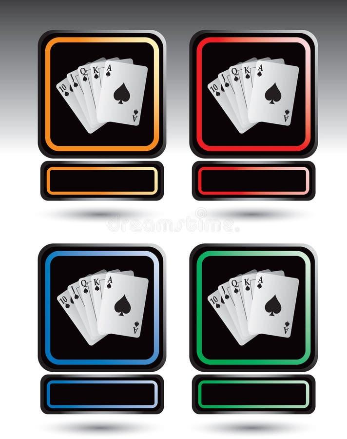 Spielkarteikonen stock abbildung
