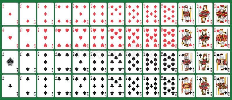 Spielkarten der vollen Plattform lizenzfreie abbildung