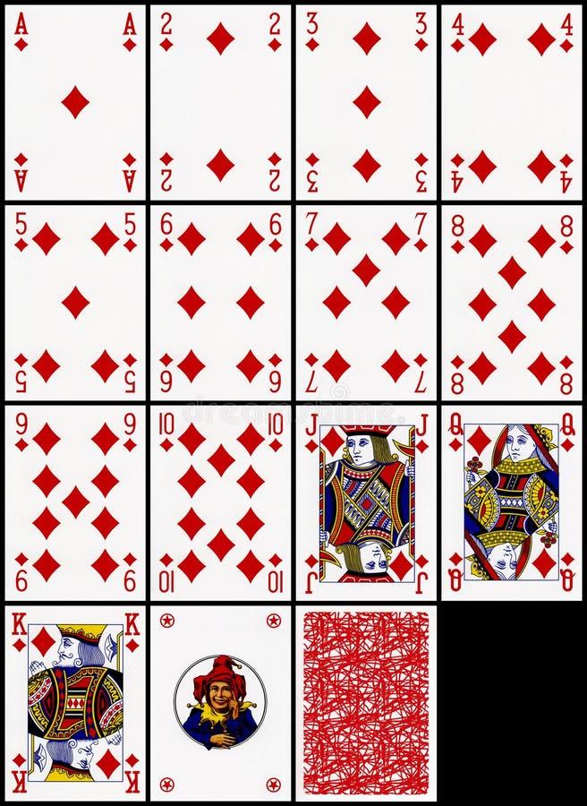 Spielkarten - die Diamantklage stockfotos