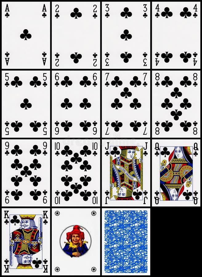 Spielkarten - die Klumpenklage vektor abbildung