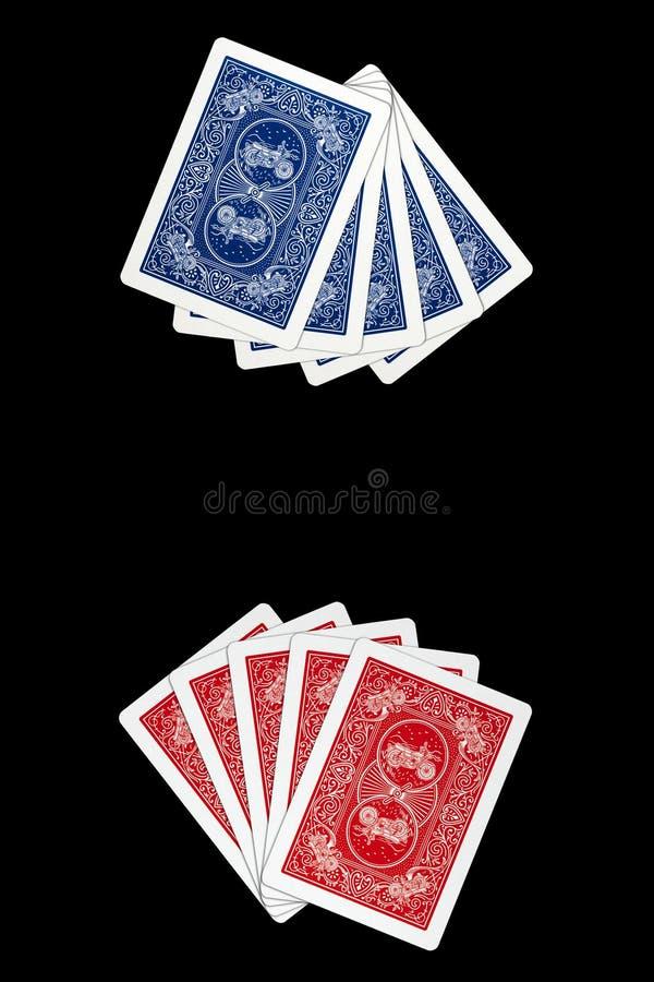 Spielkarten - Gesichts-unten Karten lizenzfreies stockbild