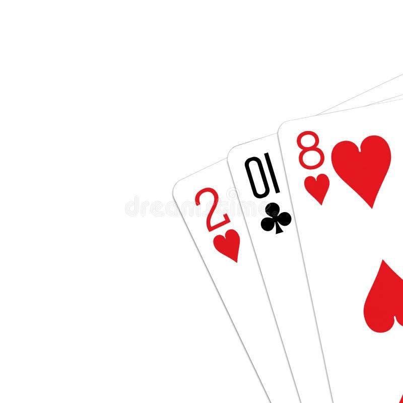 Spielkarten 2018-jährig lizenzfreie stockfotos