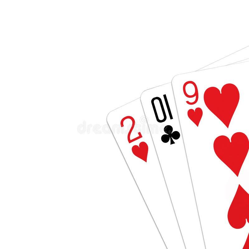 Spielkarten 2019-jährig lizenzfreie stockfotos