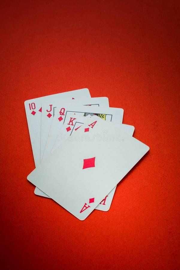 Spielkarten lokalisiert lizenzfreies stockbild