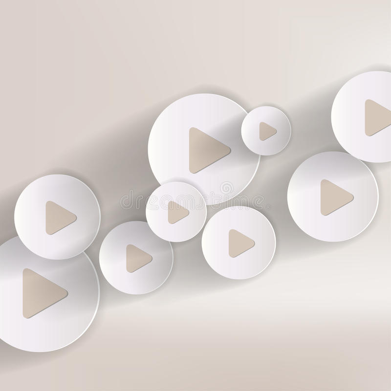 Spielknopf-Netzikone, flaches Design vektor abbildung