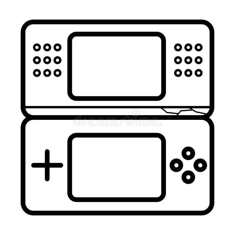 Spielkonsolen-Ikonenvektor vektor abbildung