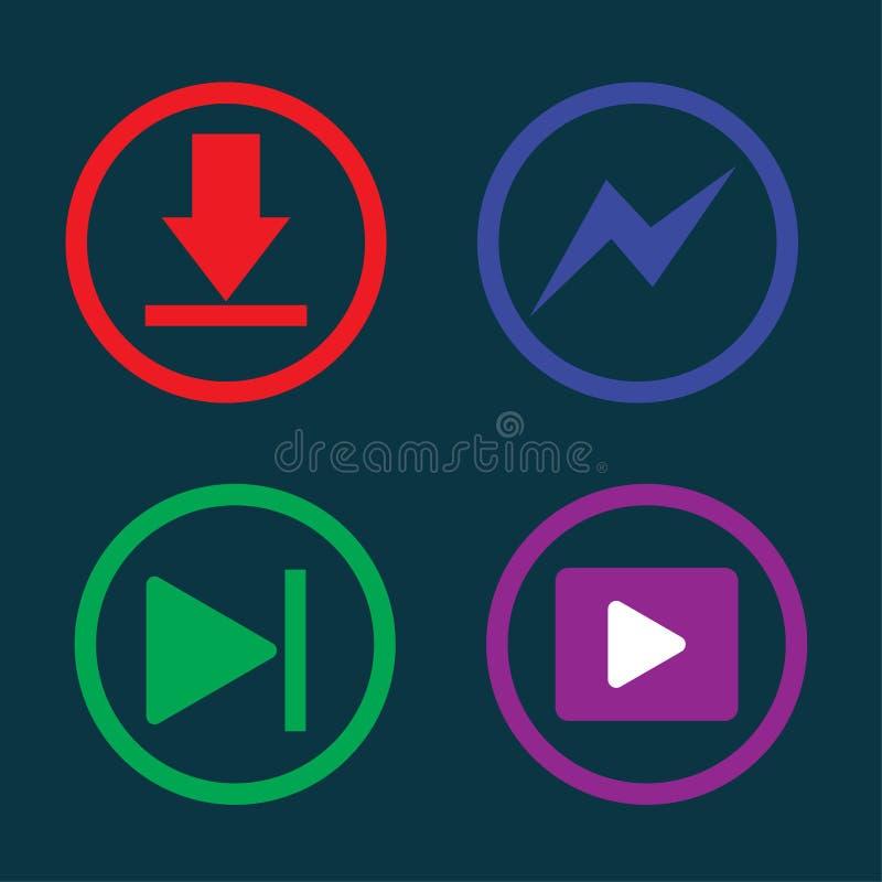 Spielmusik, Downloading, Ikone, lizenzfreie abbildung